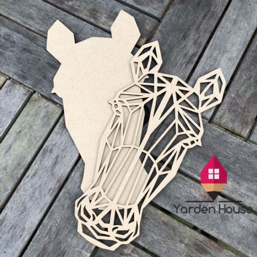 Geometric Horse Head Wall Art